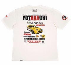 カミナリ雷/ヨタハチ/Tシャツ/白/エフ商会/テッドマン/カミナリモータース