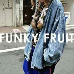 新品funkyfruitファンキーフルーツ*ピグメントデニム風ジャケット