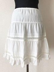 [Feroux]★ホワイトカラー・膝丈スカート・サイズ[1]★