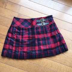 INGNI 赤×青 チェック プリッツスカート N2m 制服コーデにも!