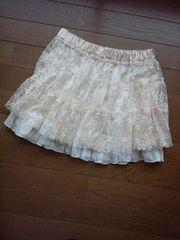 JB Girl ヒラミニ ミニスカート M レーススカート ライトベージュ N2m 姫系