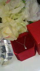 可愛い!ヴァンドーム ハートモチーフネックレス SV925*天然ダイアモンド