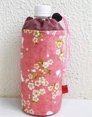 和小物 和柄ペットボトルカバー(ケース・ホルダー) 桜うさぎピンク