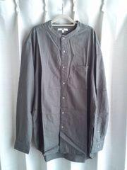 UNIQLO ユニクロ スタンドカラーシャツ 美品