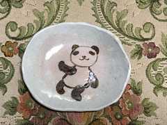 ハンドメイド陶器★パンダ★手作り 平皿★小皿★一点物