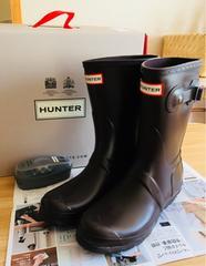 【正規品】HUNTER ハンター ショート レインブーツ 24cm