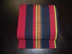 M483 カラフル・全通・紬・縞柄・袋帯