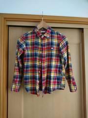 GU  チェックシャツ  美品  140�p