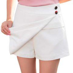 ミニスカートに見える!! 可愛いスカンツ(XL寸・白)