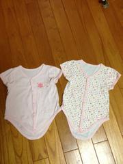 花柄 半袖 ピンク 70 二着セット 洗い替えに。