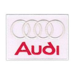 アウディ(Audi)■ワッペン■白赤(5.6*7.5cm)#aud001