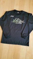 asicsアシックスS バスケ黒longTシャツ.ポリ〜used