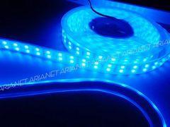 24Vトラック用/劣化防止カバー付青色LEDテープライト/5M巻き