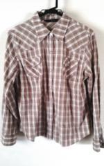 茶チェックシャツ13R