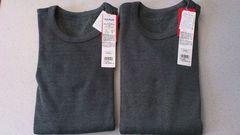 激安49%オフ発熱、Polo、長袖シャツ2枚(新品タグ、黒、日本製、メンズL)