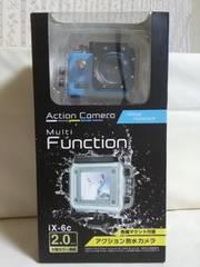 アクション防水カメラ ブルー