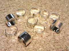 イヤーカフ平リング型10個シルバー