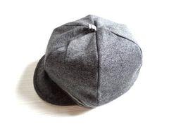新品 レディース 帽子 キャスケット グレー 灰色