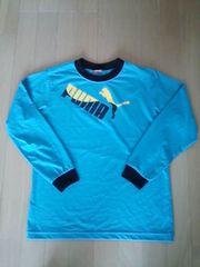 puma★プーマ濃水色150ロンTシャツ
