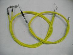(2004C)CB250TCB400Nホーク15cmロングワイヤーセット黄色