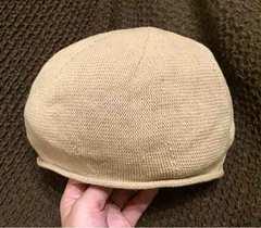 キャメル色!帽子!新品!シンプル!メンズ!フリーサイズ!
