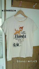 新品【ユニクロ*UNIQLO】ディズニーグラフィック半袖Tシャツ★サイズL《バンビ》
