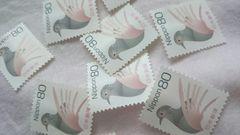 未使用切手バラ 80円×10枚 92%