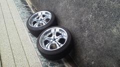 ドリフト車等に深リムプレシャスオマケ程度タイヤ引っ張り2本セット