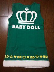 新品ボア付ジャンパースカート110緑ベビドBABYDOLLベビードール