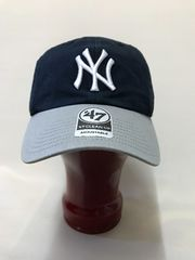 47brand 'CLEAN UP Yankees Navy × Gray 6枚ハギCAP フリー
