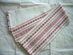 献上博多柄の綿の 小袋帯・半幅帯