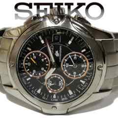 美品 1スタ★SEIKO セイコーIGNITION【クロノグラフ】腕時計