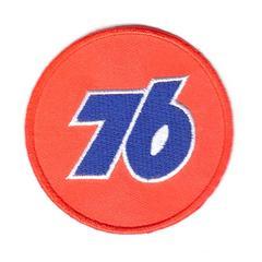 76ルブリカンツ(76 Lubricants)*ワッペン*橙白青#76l001