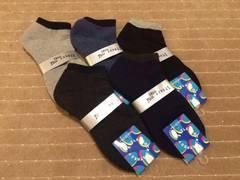 メンズ スニーカー ソックス 靴下新品 25cm 〜 27cm 5足組
