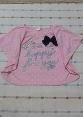 ピンクドット半袖シャツ♪120�p