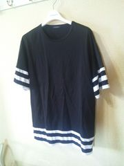 MIDWEST 603 ミッドウエスト ボーダー切替Tシャツ 黒×白