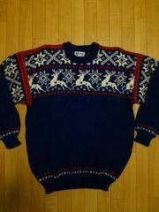 ノルウェー製 ヴィンテージ 雪柄 セーター