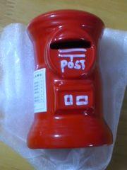 値下 昔懐かしい レトロな赤い丸型ポストの貯金箱 新品 インテリアOK