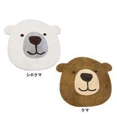 シロクマ&クマフェイスマット★子供部屋マット★Mサイズ♪白熊インテリア