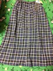 179/WG:新品タグ付き:チェック柄ロングスカート