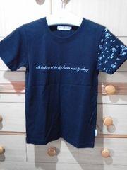 アースミュージック&エコロジー袖にキラキラ星☆ロゴプリTシャツ/送料180円
