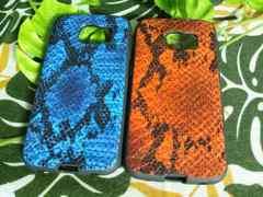Galaxy S6 edge Tridea 型押し蛇柄風デザイン 【BLorOJ】
