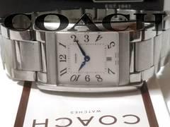 良品【箱・購入証明付】1スタ★COACH コーチ【スイス製】腕時計
