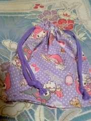 マイメロ・クロミ巾着袋紫
