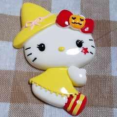 BIG パーツ ☆ ハロウィーン ( 黄色 ) キティ ☆ 約 7.5 cm