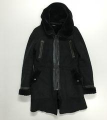 里オク EMODA フェイクムートンコート Sサイズ ブラック
