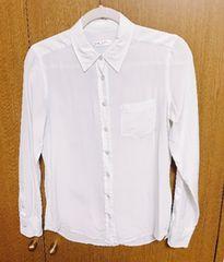 �@エキプモンシルクシャツ xsサイズ 薄い水色