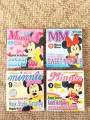 ディズニー ミニーマウス ファッション雑誌風 ミニメモ張 4冊セット 新品