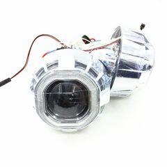 HID プロジェクター 3.0インチ H4 CCFL リング 付き 埋め込み