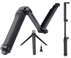 ゴープロなどに 3WAY 自撮り棒 アクションカメラ全般対応